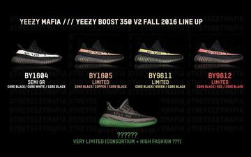 11月3双,之后还有2双?adidas Originals YEEZY Boost 350 V2 将于今季推出 5 款配色?