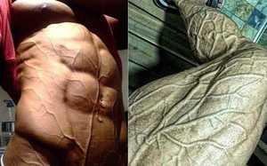 肌肉男為何總是青筋暴起?