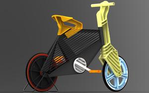 用再生塑料做的自行车
