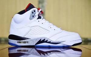 """实物抢先看,Air  Jordan 5 """"White Cement"""""""