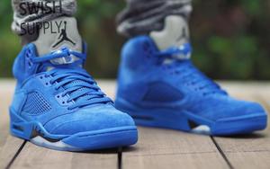 """Air Jordan 5 """"Blue Suede""""上脚示范"""