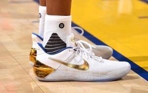 伊戈达拉今日上脚白金配色Nike Kobe A.D.
