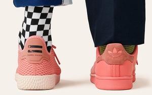菲董 x adidas 全新 Tennis Hu 与 Stan Smith 粉色系列