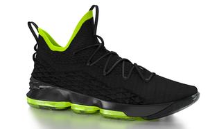 Nike LeBron 15 黑/荧光绿 样品曝光