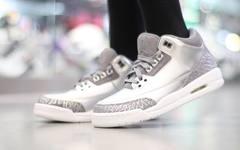 电镀未来感,Air Jordan 3 GG上脚欣赏