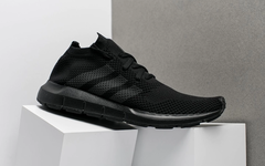 "简约黑魂新作,adidas Swift Run PK 全新""Triple Black""配色"