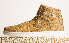 """15000颗水晶加土豪金!Air Jordan 1 """"Golds""""已不能用奢华来形容了!"""