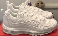 """人气纯白,Nike Air Max 98""""Triple White"""" 配色抢先看"""