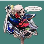 """另类球鞋插画,这只说出鞋迷心声的""""骷髅"""""""