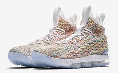 """白色先行上架!Nike LeBron 15 """"Fruity Pebbles"""" 明日发售!"""