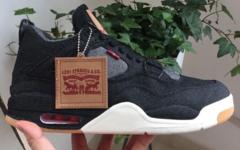 """黑色实物释出!Levi's x Air Jordan 4 """"Black Denim"""" 六月发售!"""