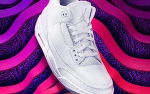 """纯白爆裂纹加持!Air Jordan 3 """"Triple White"""" 抢先看!"""