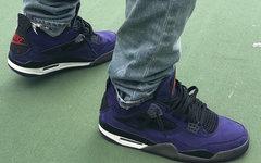 红色细节!Travis Scott 再次释出一款紫色 AJ4!