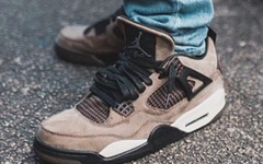 "秋冬发售!Travis Scott x Air Jordan 4 ""Olive"" 即将来袭!"