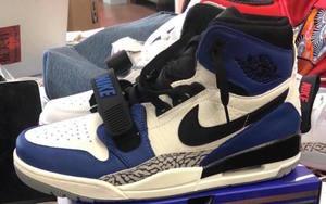 "Jordan Yeezy?Air Jordan Legacy 312 ""Storm Blue"" 释出实物图片!"