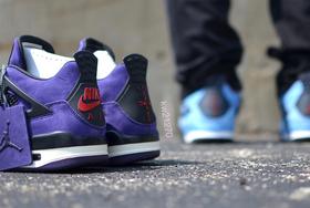 近赏丨紫色亲友版 Travis Scott x Air Jordan 4