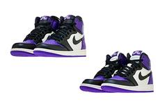 情侣鸳鸯设计!黑紫脚趾 AJ1 成人、GS 配色存在差异!