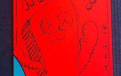 羡慕!冠希女儿 ALAIA 收到了 KAWS 的专属赠画