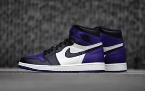 """近赏丨黑紫脚趾 Air Jordan 1 """"Court Purple"""""""