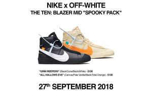 """OW x Nike Blazer Mid """"Spooky Pack"""" 发售日期更新!"""