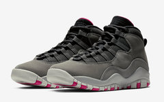 官图释出!女生专属 Air Jordan 10 灰粉配色本周发售!