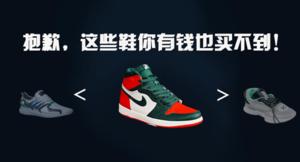 抱歉,这些鞋不是你有钱就可以买到的!