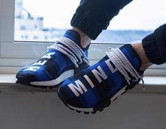 蓝色格子花纹!抢先预览 Billionaire Boys Club x adidas Originals Hu NMD