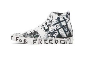 独特的反战颂歌!VETEMENTS 发布涂鸦风 Georgian Graffiti Sneakers