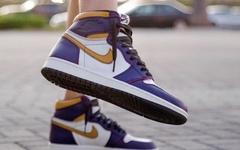 上脚效果出色!湖人配色 Nike SB x AJ 1 将于下月登场