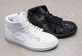 漆皮阴阳配色!Air Jordan 1 Mid 女鞋新配色