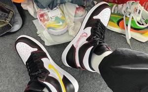 """未完成 Swoosh 设计?这款 Air Jordan 1 """"Dynamic Yellow"""" 有点意思"""