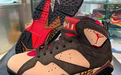 应该是秋冬的好选择,Patta x Air Jordan 7 细节近赏