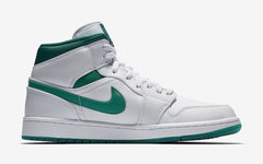 "适合夏日上脚的配色! Air Jordan 1 Mid ""Mystic Green"" 现已登场"