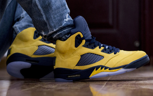 "又是限量发售? Air Jordan 5  SP""Michigan"" 八月亮相"