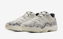 """官图正式释出!Air Jordan 11 Low """"白蛇"""" 即将发售"""