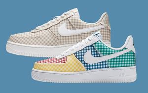 别致的格纹拼接!Nike Air Force 1 全新夏季专属配色即将登场