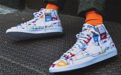 视觉效果惊艳,Nike Blazer全新拼接logo配色现已发售