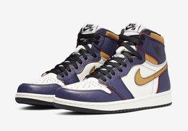 官图正式放出!Nike SB x Air Jordan 1 湖人配色下周发售
