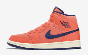 "质感不凡的珊瑚橙配色!全新的 Air Jordan 1 Mid ""Turf Orange"" 你觉得怎么样"