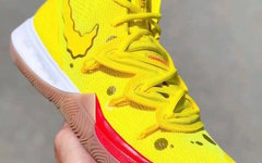 """超可爱海绵宝宝配色!全新 Nike Kyrie 5 """"SpongeBob"""" 即将正式发布"""