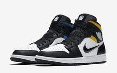 """鸳鸯设计+篮球标志!这款 Air Jordan 1 Mid""""Quai 54"""" 着实亮眼"""