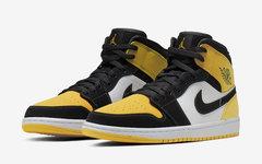 颜值极高,Air Jordan 1 Mid 黑黄脚趾本月发售