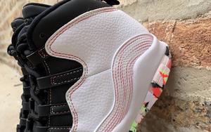 彩色涂鴉圖案渲染!全新的 Air Jordan 10 GS 玩味十足