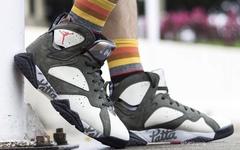 第二款配色上脚照曝光!这款 Patta x Air Jordan 7 你怎么看?