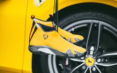 好鞋配好车,Air Jordan 14 Ferrari 上脚美如画