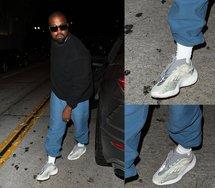会是 Yeezy 700 V3 ?侃爷上脚全新鞋款,造型有点酷!