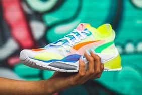 亮眼的彩虹配色,PUMA推出全新休闲训练鞋 LQD Cell Optic