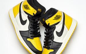 """这款配色不得了!全新 Air Jordan 1 """"黄色脚趾"""" 实物照曝光"""