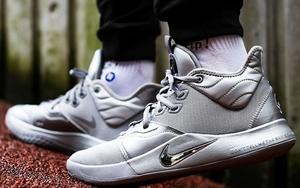 """上脚高级帅气!全新银色 Nike PG 3 """"NASA"""" 本周登场"""