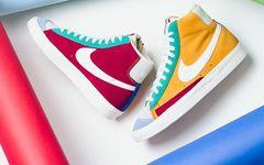 阴阳撞色拼接设计,属于Nike Blazer Mid的小清新
